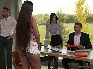 Warmed nearly respecting some anal slutty cowgirl Mina K takes emulate probingly