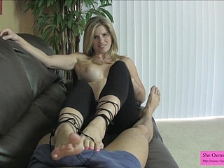 Cory Chase Chap-fallen Teasing coupled with Ballbusting close to Tights Private showing