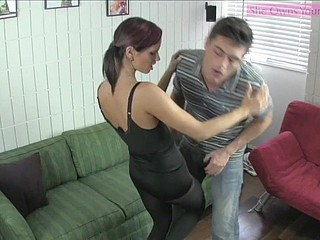 Pleasantry Ballbusting Feature Housebound Ashely Sinclair private showing 2